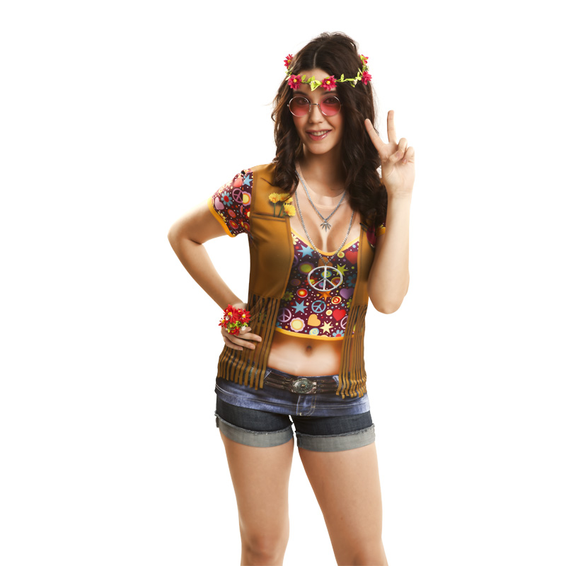 camiseta hippie mujer