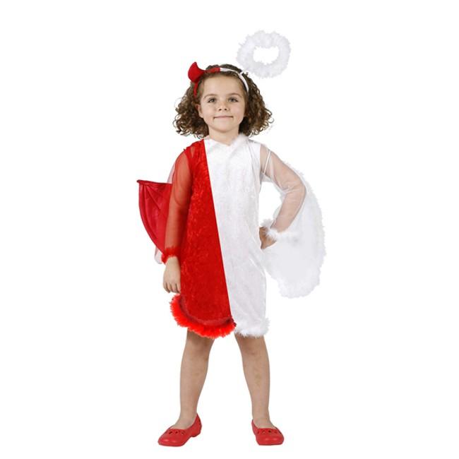disfraz angel- demonio niña