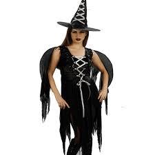 disfraz bruja con alas negro mujer