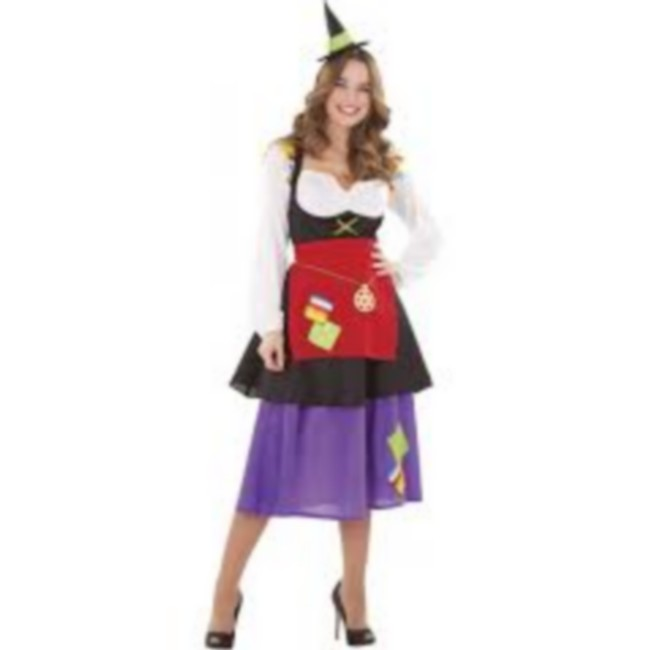 disfraz bruja hechicera mujer