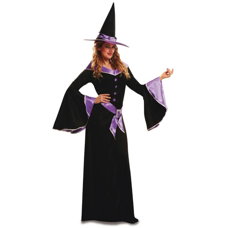 disfraz bruja morada mujer