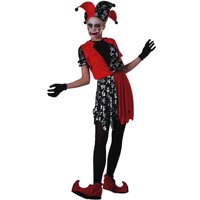 disfraz bufón terror mujer