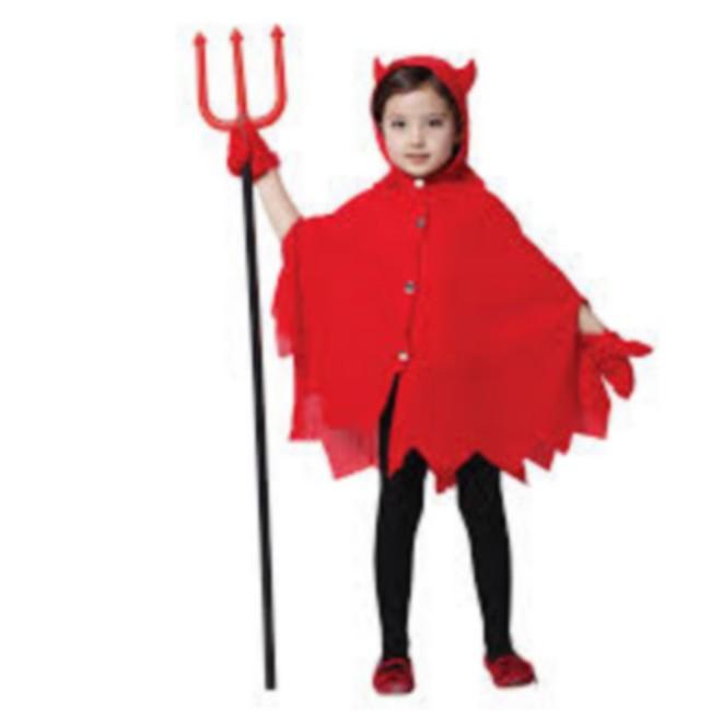 disfraz capa demonio niño