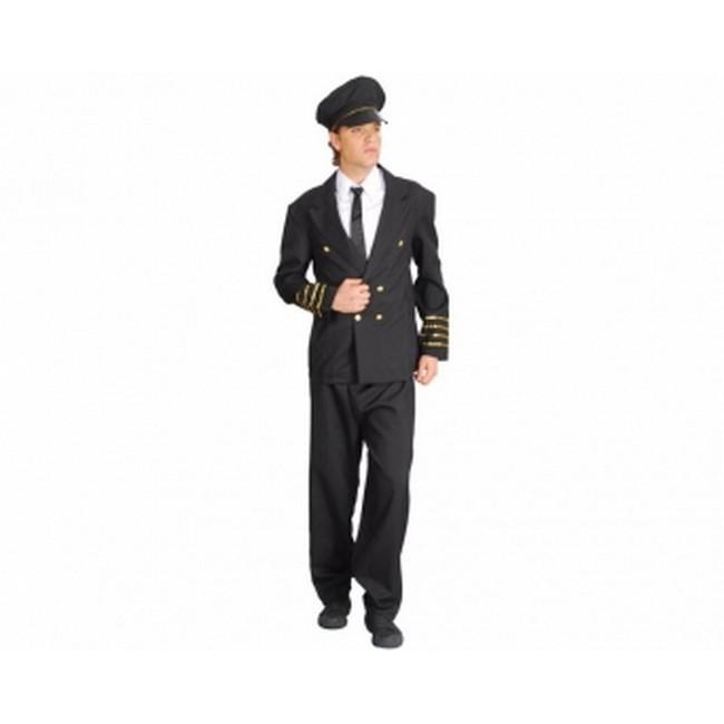disfraz capitán piloto azul hombre
