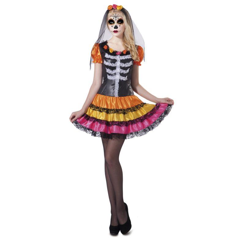 disfraz catrina esqueleto mujer