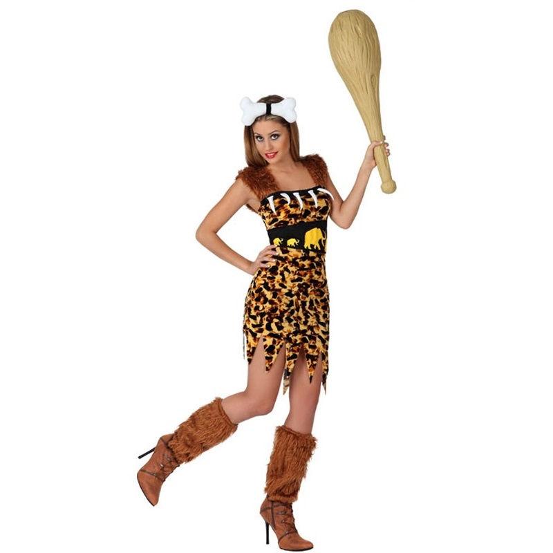 disfraz cavernícola colmillos mujer