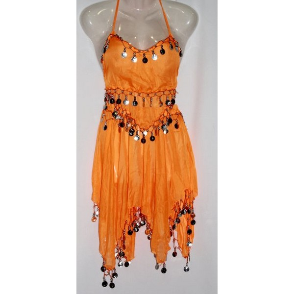 disfraz danza del vientre falda naranja