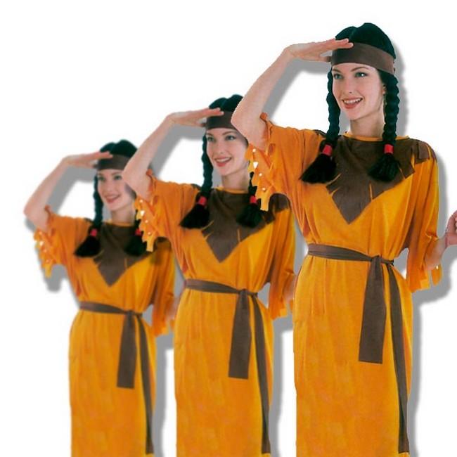 disfraz de índia naranja mujer