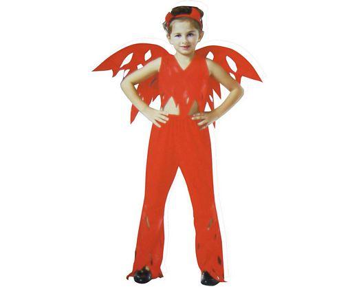 disfraz demonia alas niña