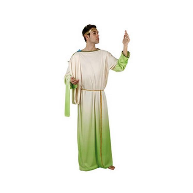 disfraz dios griego verde