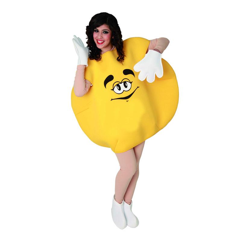 disfraz dulce m&m amarillo adulto