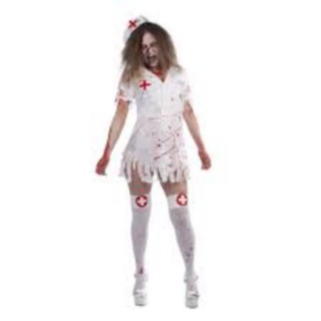 disfraz enfermera zoombie mujer