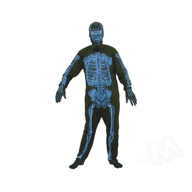 disfraz esqueleto azul hombre
