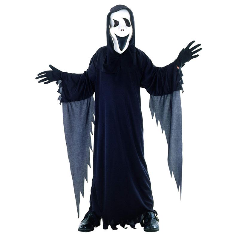 disfraz fantasma con careta infantil