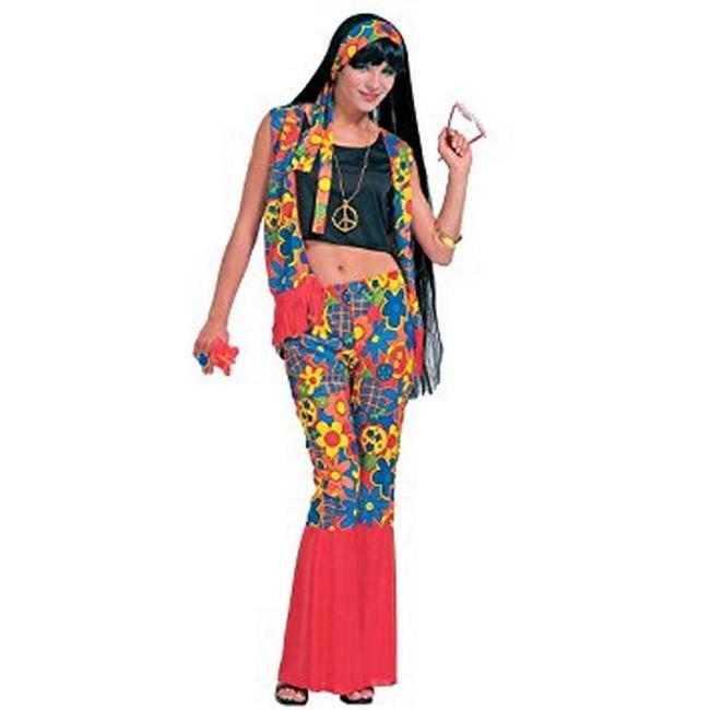 disfraz flower power mujer 702966