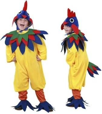 disfraz gallo amarillo niño