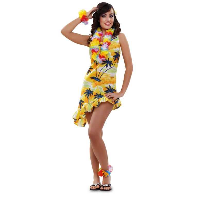 disfraz hawaiana mujer