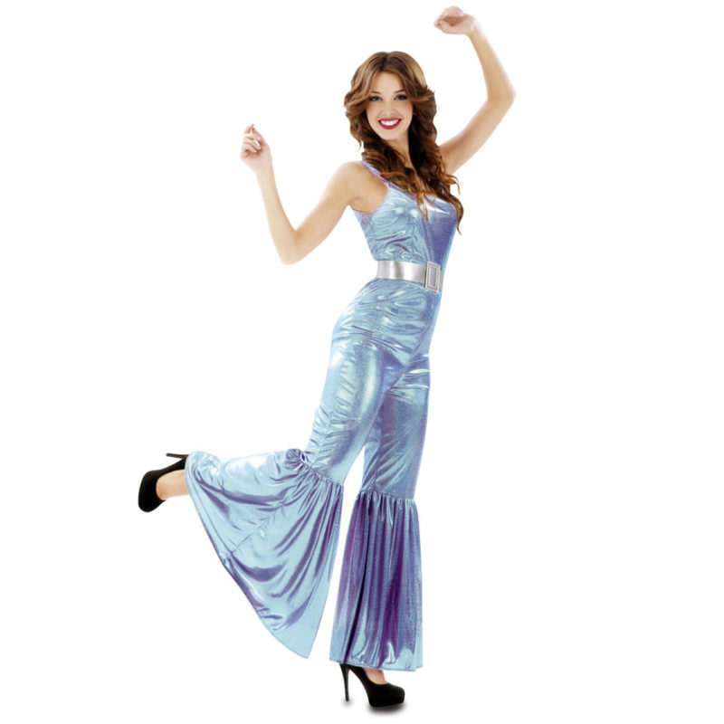 disfraz mono disco azul mujer 200530mom