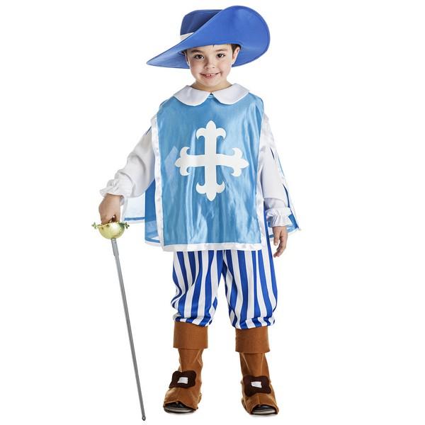 disfraz mosquetero azul bebé