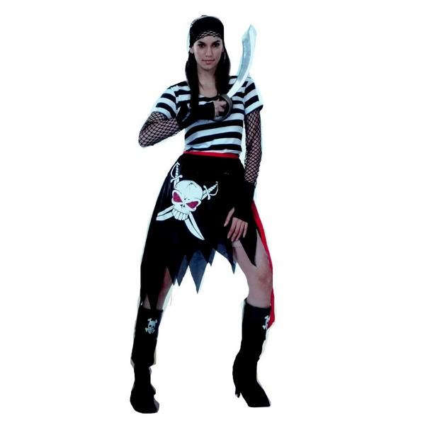 disfraz pirata calavera mujer