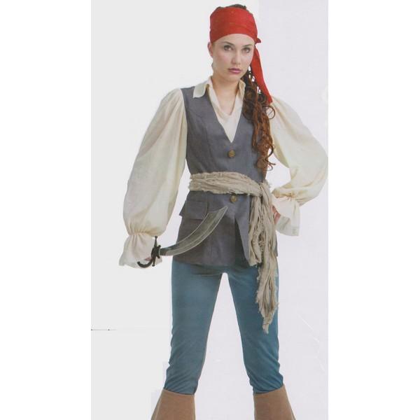 disfraz pirata caribeña mujer