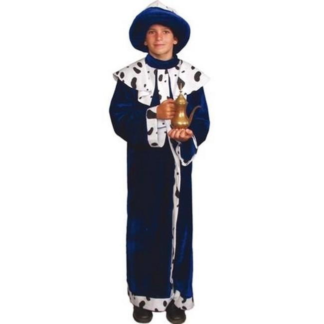 disfraz rey mago azul infantil.