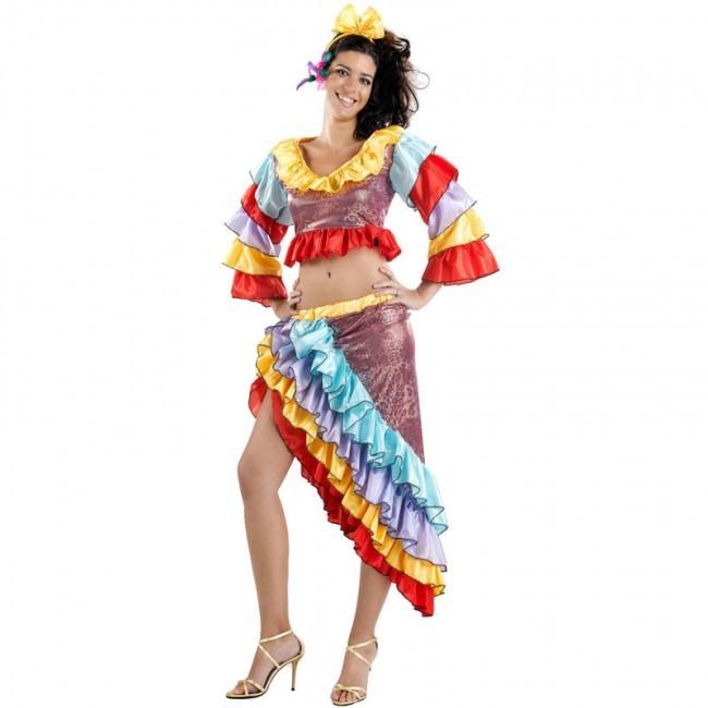 disfraz rumbera brillo mujer