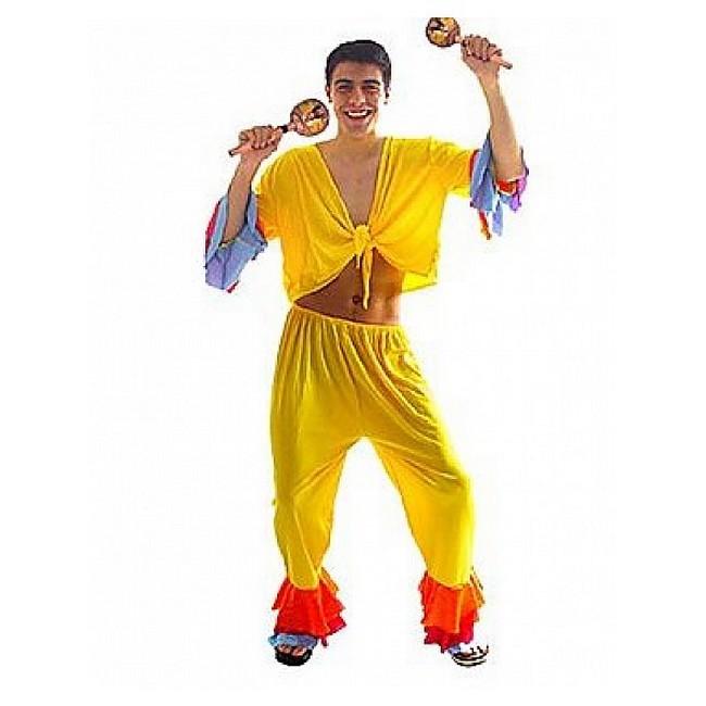 disfraz salsa amarillo hombre