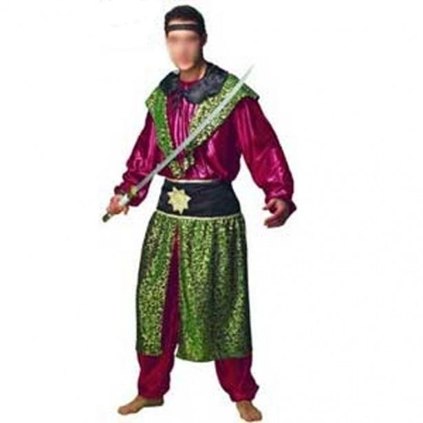 disfraz samurai profisa verde hombre