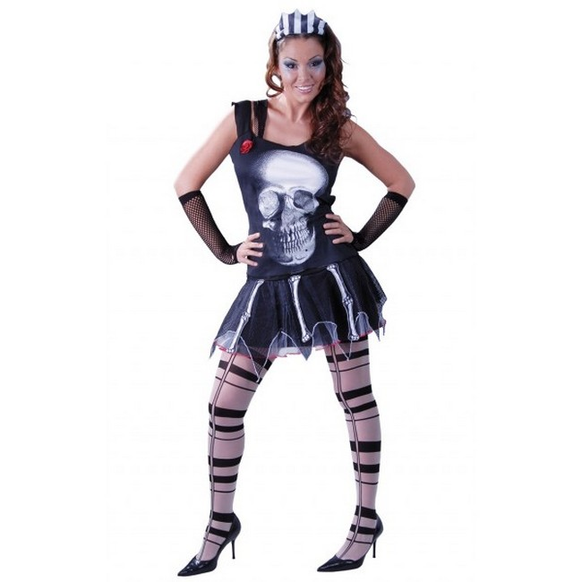 disfraz skull girl mujer