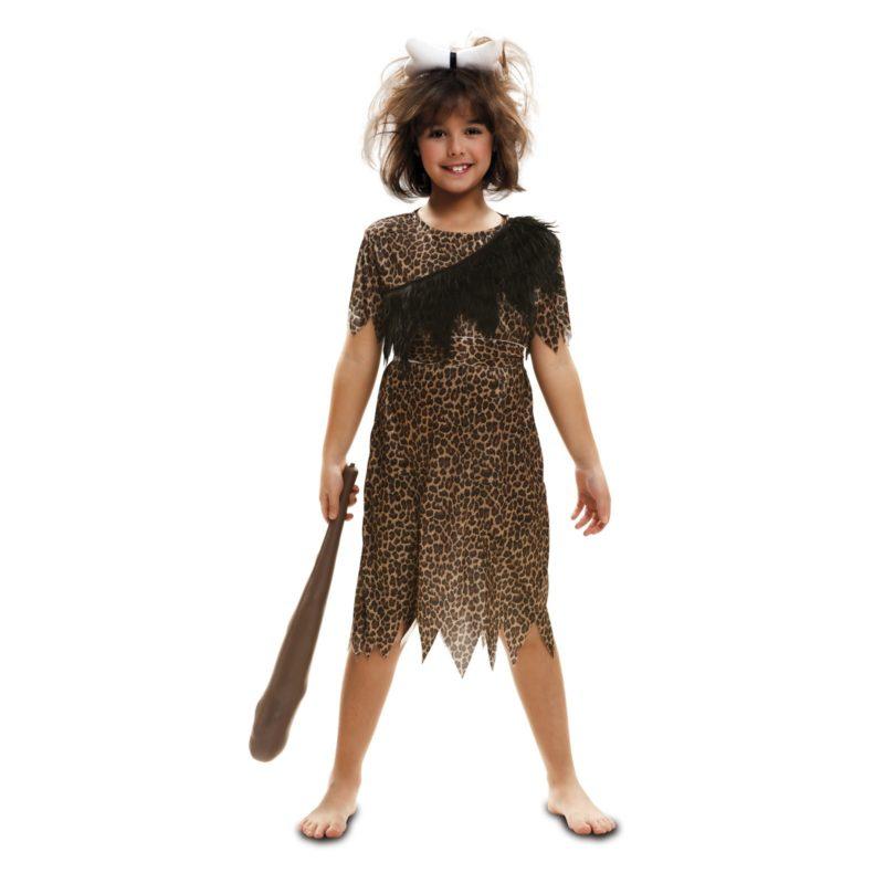 disfraz troglodita aventurera niña