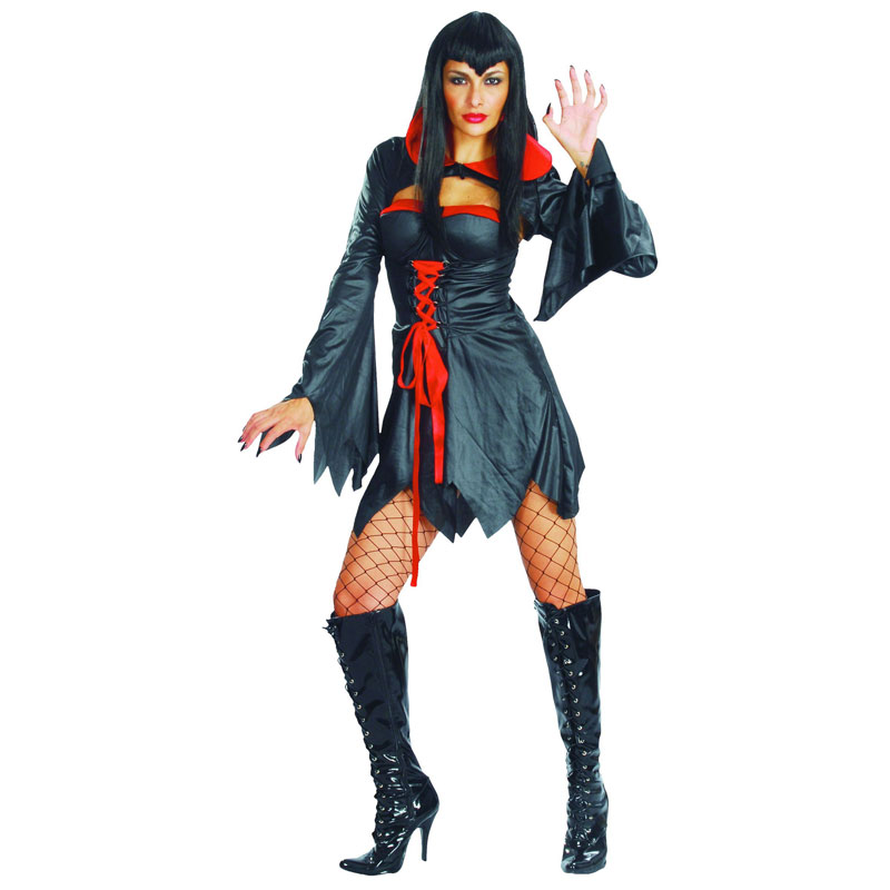 disfraz vampiresa negra mujer