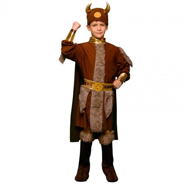 disfraz vikingo marrón niño
