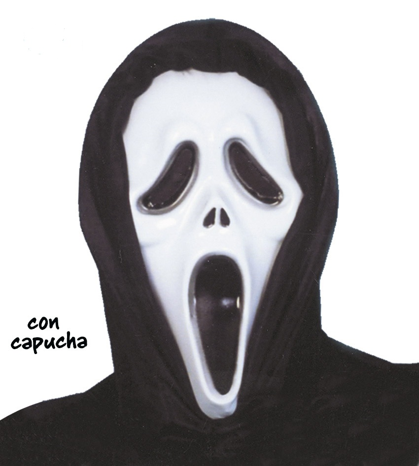 1140 CARETA SCREAM PLASTICO CON CAPUCHA - CARETA SCREAM