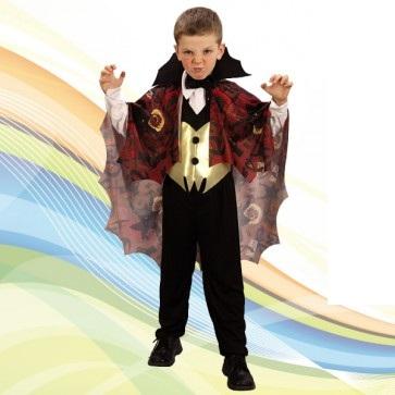 36070 disfraz de vampiro niño - DISFRAZ DE VAMPIRO CON CAPA ROJA NIÑO