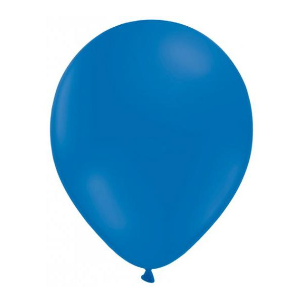 50 globos azul - GLOBOS AZULES