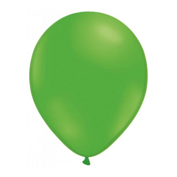 50 globos verde - GLOBOS VERDES