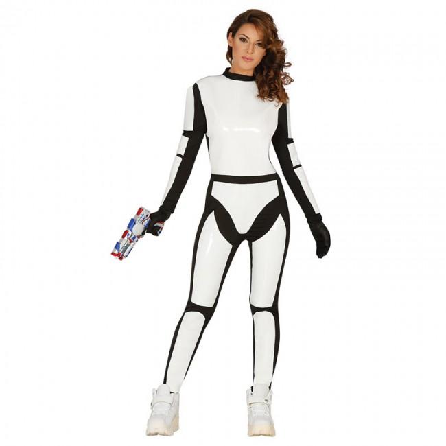 84528 simple disfraz stormtrooper soldado espacial mujer 84528 - DISFRAZ DE STORMTROOPER MUJER