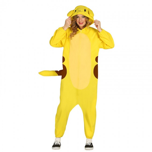 84623 simple disfraz pikachu kigurumi adulto 84623 - DISFRAZ PIJAMA DE   POKEMON ADULTO