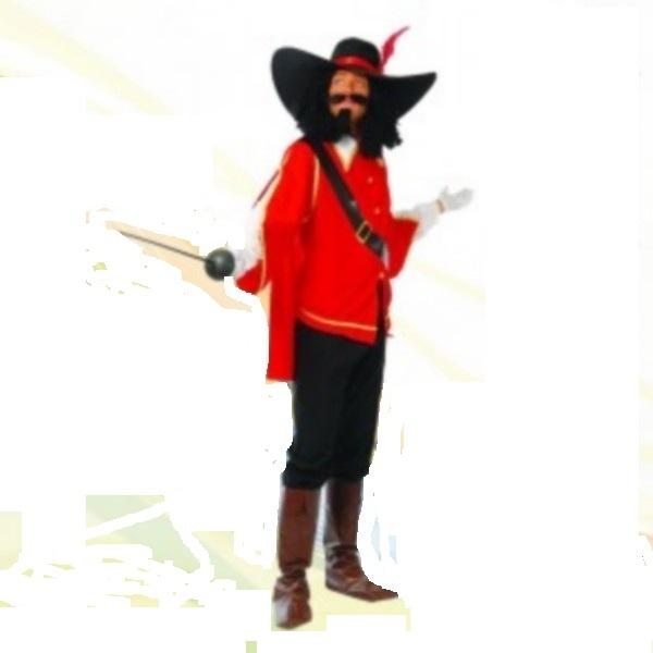 86501 disfraz de mosquetero adulto - DISFRAZ DE MOSQUETERO ADULTO ROJO