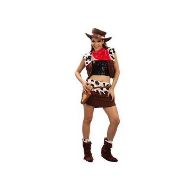 Disfraz Vaquera Mujer 69993 - DISFRAZ DE VAQUERA CHALECO MUJER