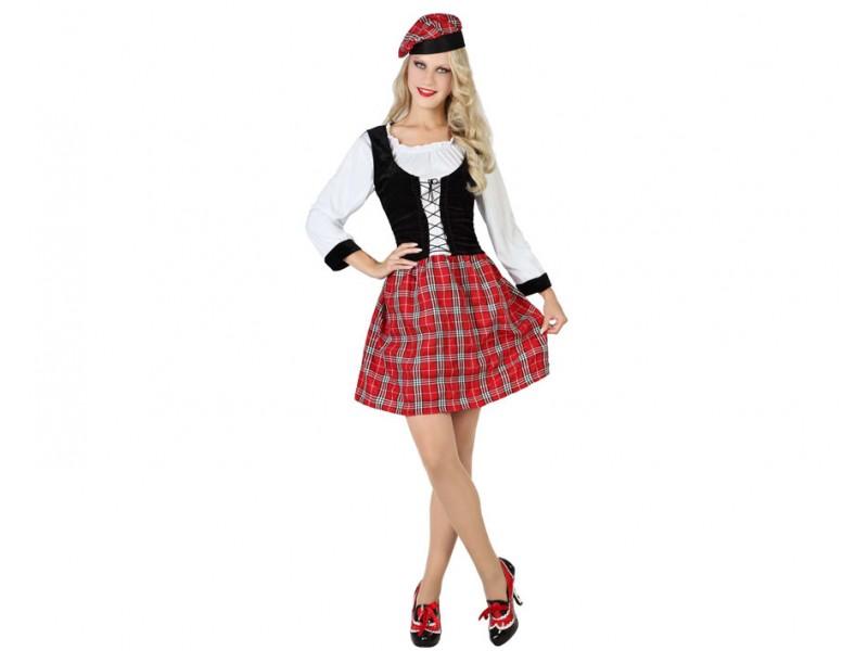 b disfraz de escocesa adulto t2 - DISFRAZ DE ESCOCESA CORPIÑO MUJER