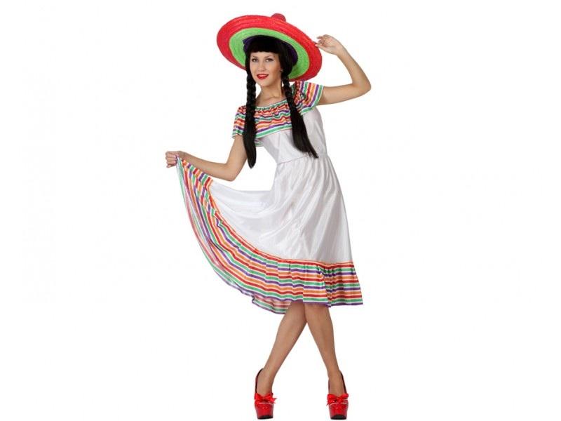 b disfraz mejicana mujer - DISFRAZ DE MEJICANA BLANCO MUJER