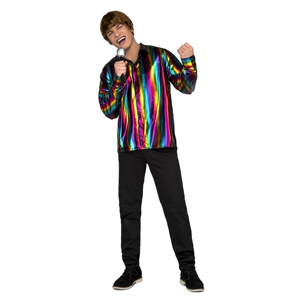 camisa disco hombre - CAMISA DE DISCO COLORES PARA HOMBRE