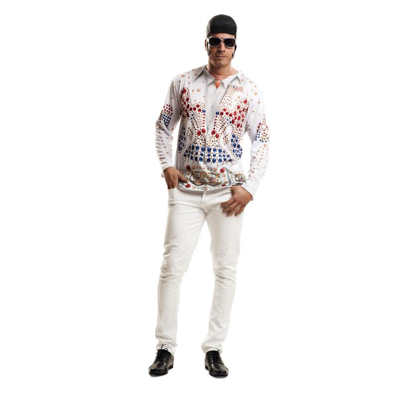 camiseta elvis - CAMISETA DISFRAZ ELVIS PRESLEY
