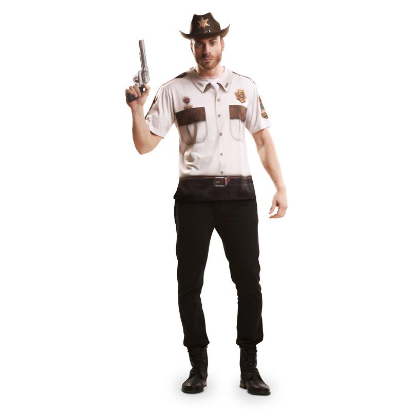 camiseta sheriff - CAMISETA DISFRAZ SHERIFF