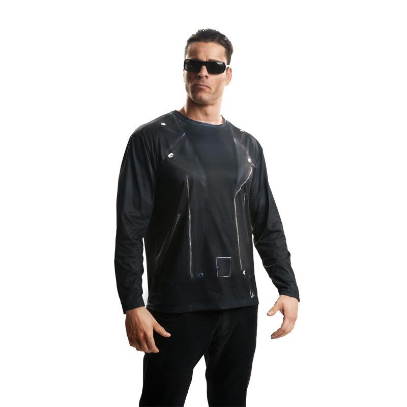 camiseta terminator hombre - CAMISETA DISFRAZ TERMINATOR