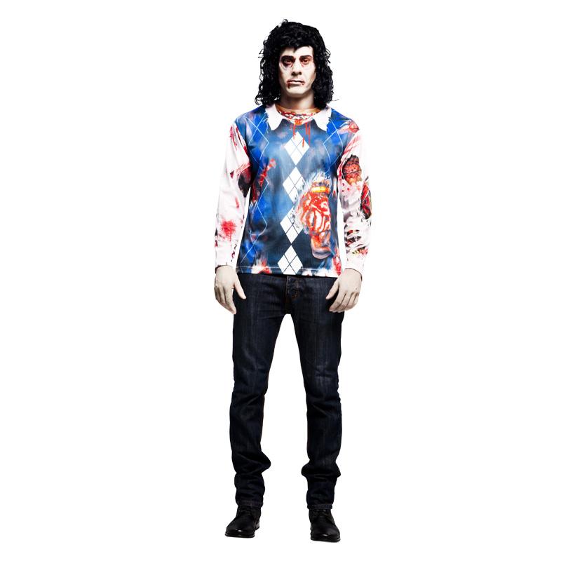 camiseta zoombie hombre - CAMISETA DISFRAZ ZOMBIE HOMBRE