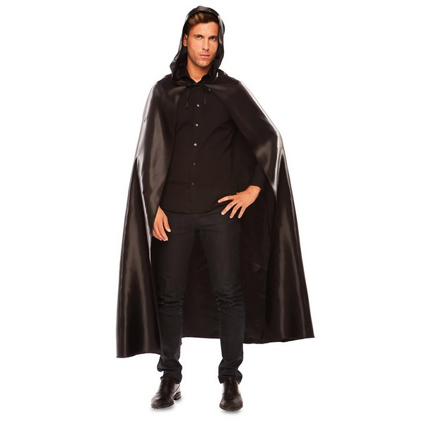capa veneciana adulto con capucha - CAPA VENECIANA NEGRA ADULTO