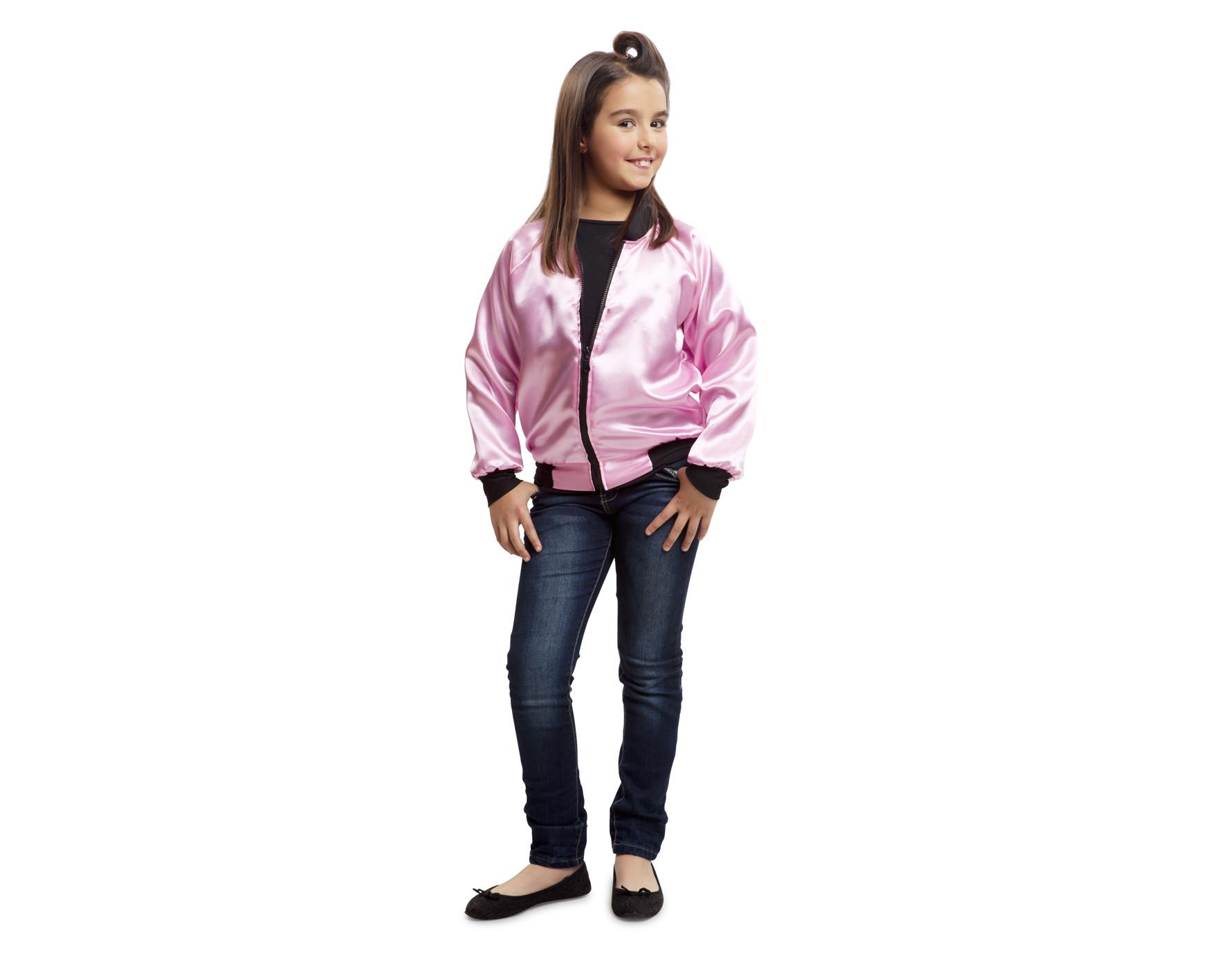 Lady Grease Parejas Disfraces Pink Cazadora De Niña Para pOqAEAwt 7ecb0a97cc36f